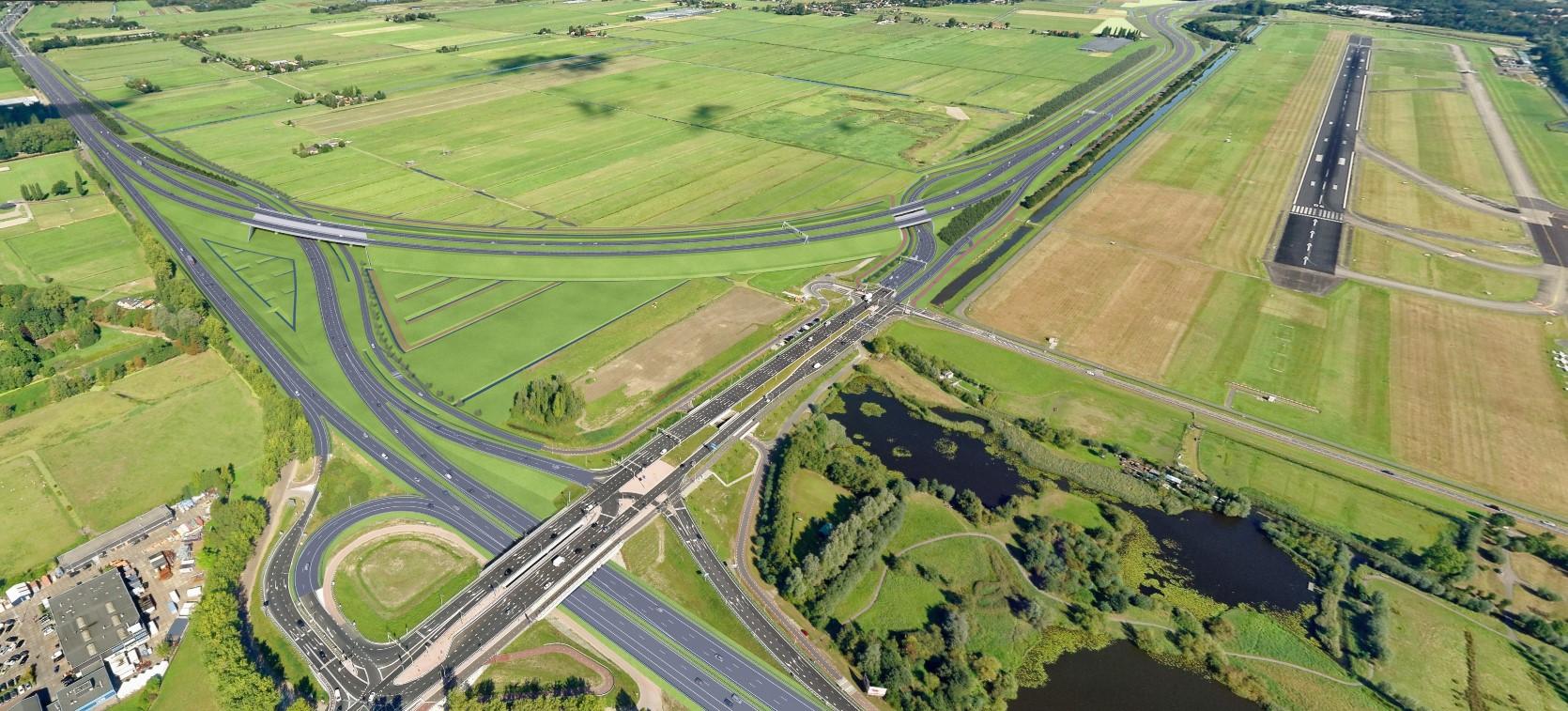 Wegontwerp A16 Rotterdam - De Groene Boog